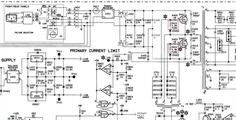 3562a pwr supply schematic