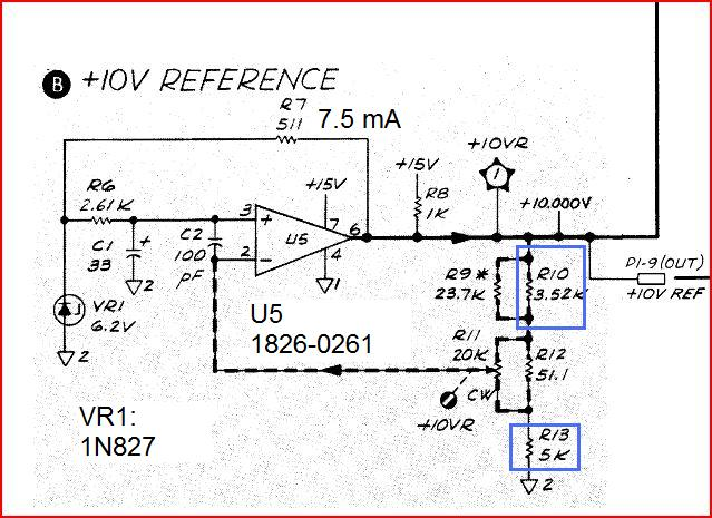 8569a 10 v reference circuit