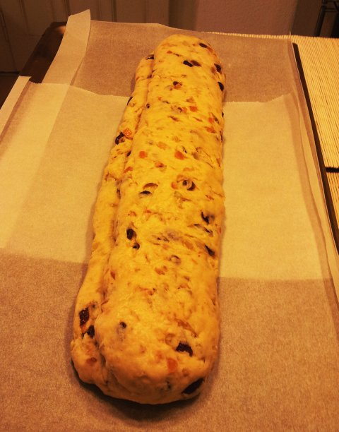stollen ready for oven
