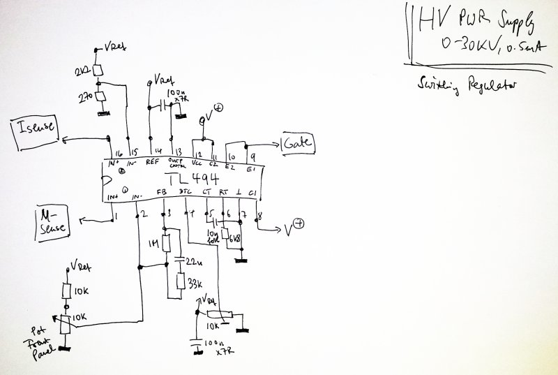 hvpwr schematic switching regulator