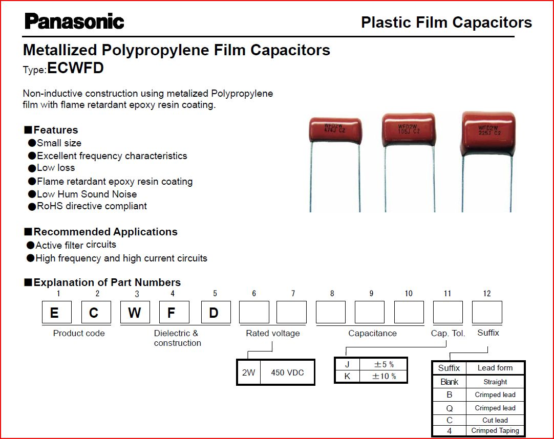 8970a ecwfd capacitor data