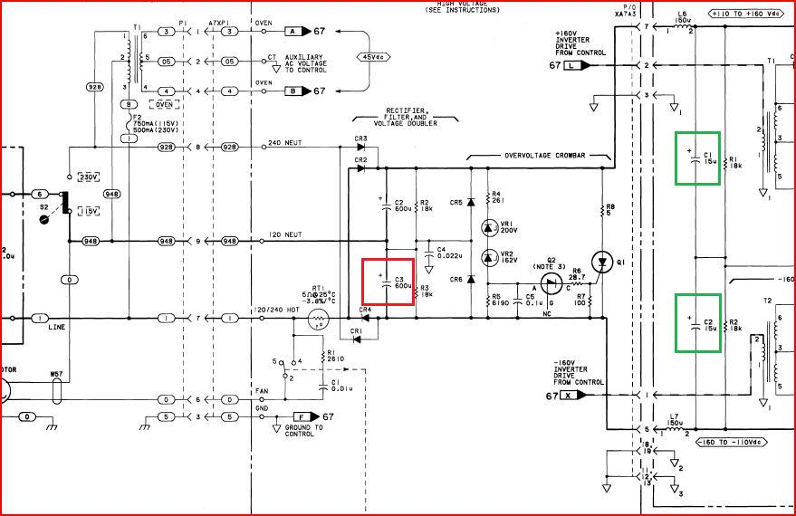 8663a pwr supply schematic