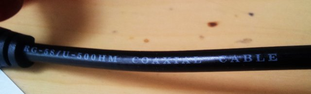 a13 rg-58u cable