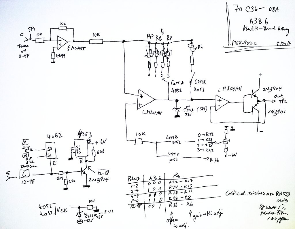 msr-902c a3b6 schematic and adjustments