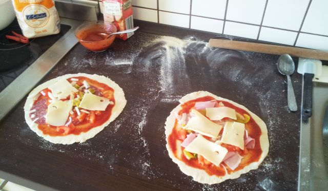 pizza before