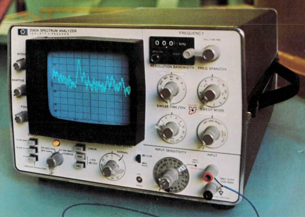 HP 3580A Spectrum Analyzer: a non-working marvel of