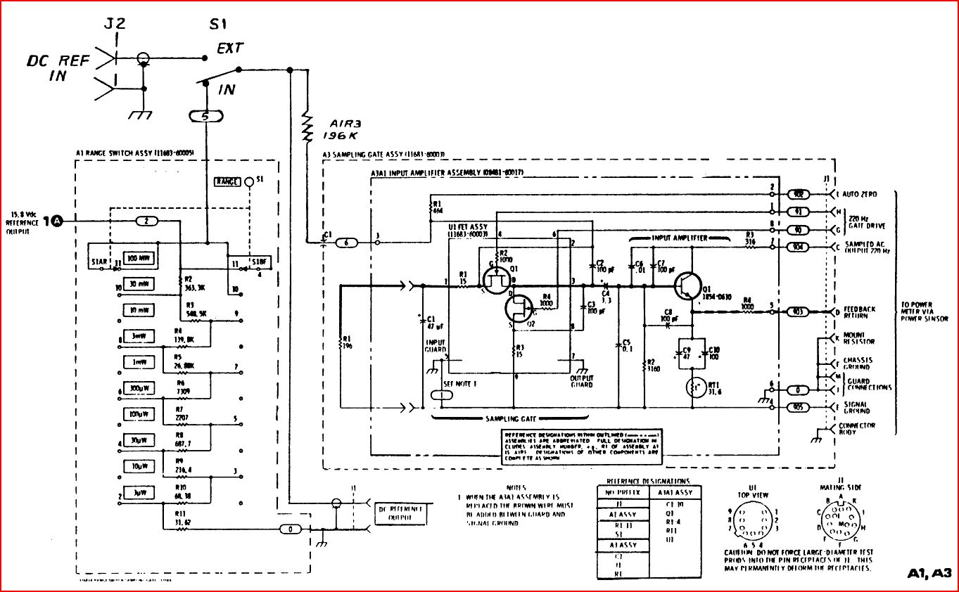 Hp 11683a Range Calibrator No Power Meter Calibration Without It Watt Wiring Diagram Of Note That The Schematic Shows H01 Option Which Allows An External Dc Connection From A Calibrated Source This Is Much Preferred Over Build In
